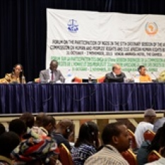MOSAIKO PARTICIPA NO FÓRUM DAS ONG'S NA 57ª SESSÃO DA COMISSÃO AFRICANA DOS DIREITOS HUMANOS E DOS POVOS