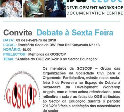 Debate à Sexta-feira: Análise do OGE 2013-2018 no Sector da Educação