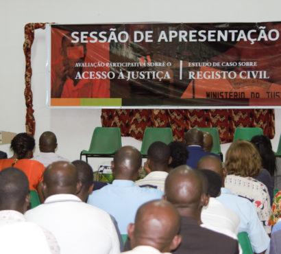 """Mosaiko apresenta o Relatório da Pesquisa """"Avaliação Participativa sobre o Acesso à Justiça"""" e o Estudo de Caso sobre Registo Civil"""