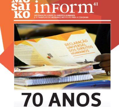 Mosaiko Inform 41 – 70 Anos da Declaração Universal dos Direitos Humanos